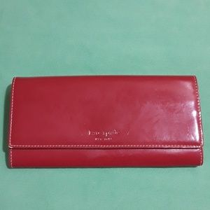 Kate Spade Raspberry Long Leather Wallet